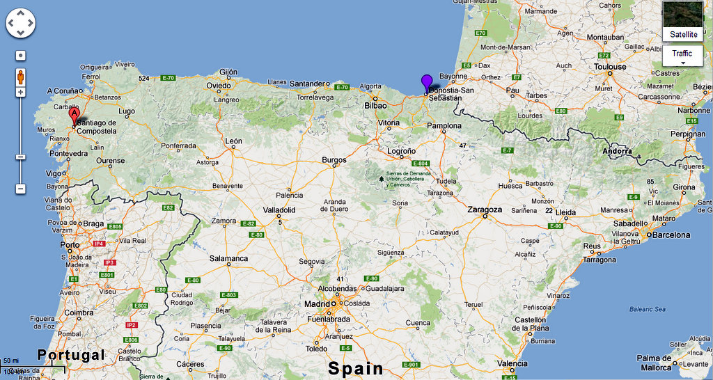 Map Of North Spain Coast.Northern Spain Adventure Azahar In Sevilla