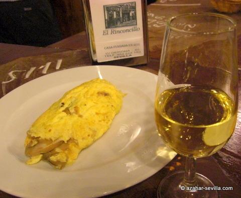 rinconcillo mushroom omelette