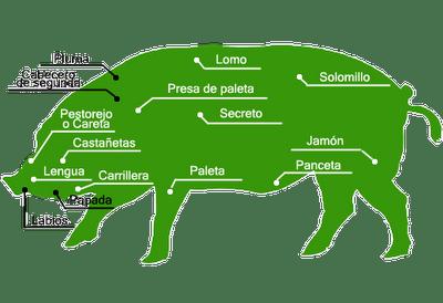 partes de cerdo