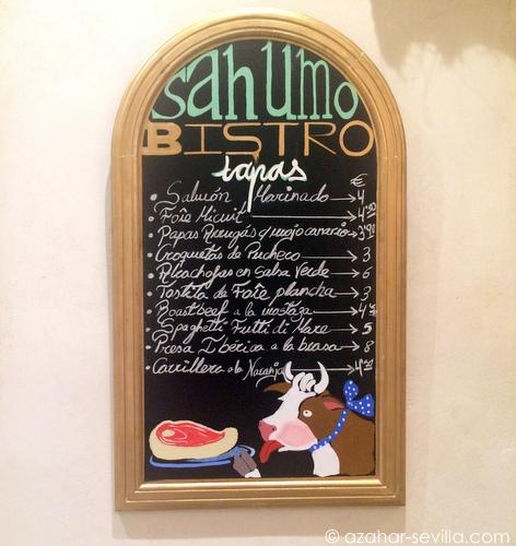 sahumo tapas menu