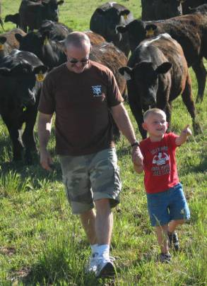 Jay and Kyler and the herd