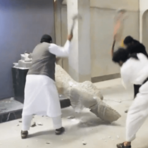 تدمير متحف الموصل