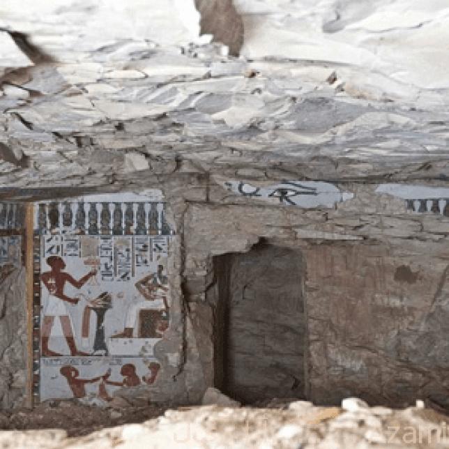 اكتشاف جدارية فرعونية3