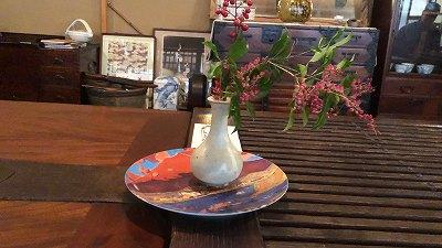 梅屋 テーブルのお花