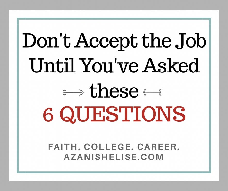 accept a job offer