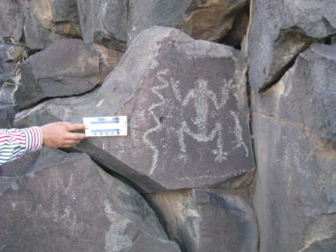 A rock art panel from the Moctezuma Valley, where the discussed research was conducted