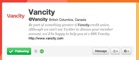 Vancity on Twitter