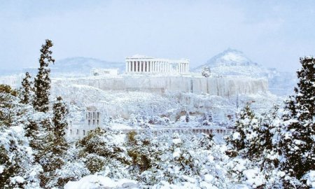 Աթենքում ցրտի և ձյան պատճառով փակվել են դպրոցները