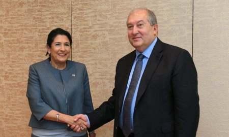 Մենք լավ հարևաններ ենք․ Արմեն Սարգսյանը հանդիպել է Վրաստանի նախագահին