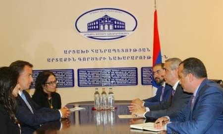 Արցախի ԱԳ նախարարը հանդիպել է Ամերիկայի հայկական համագումարի պատվիրակության հետ