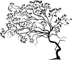 Baum Wandtattoo Vorlage