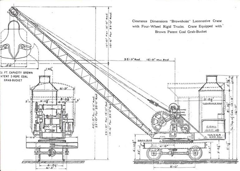 A Steam Powered Rail Crane,