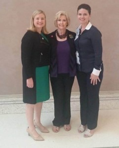 Phoenix City Council Member Kate Gallego and equal pay advocate Lilly Ledbetter & Regina Romero