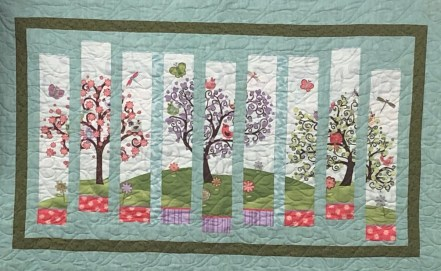 Fun quilted wall hanging provided by Weavers Needle was won by Janet T, of the Arizonian RV Resort.