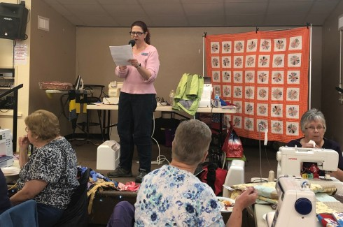 AZB4K President, Kelli Nemec, reads a lovely letter from Arizonans for Children.