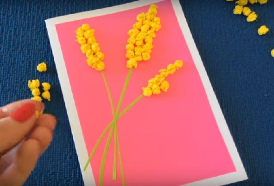 Монстров картинками, открытка мимоза своими руками в детском саду