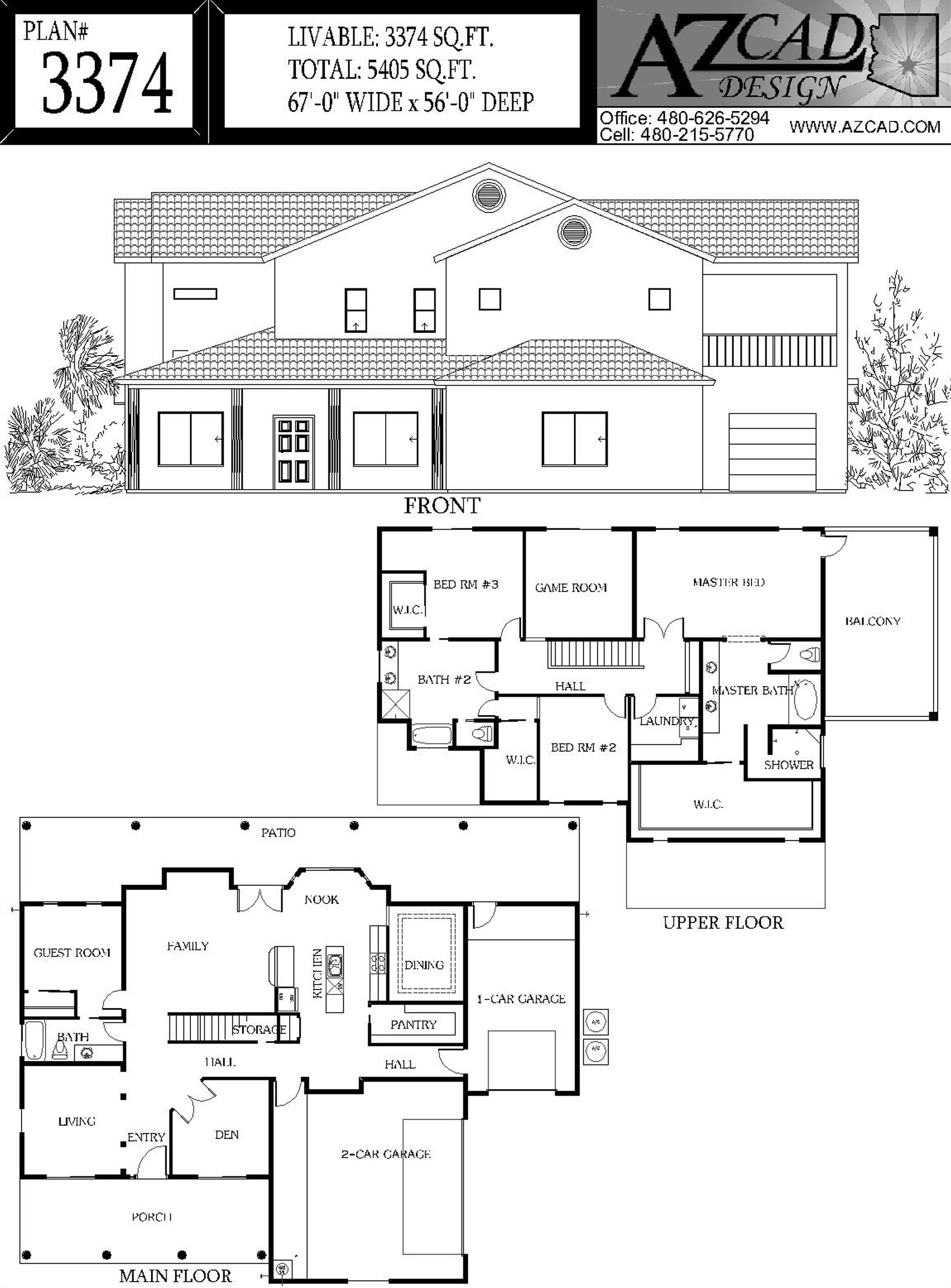 Azcad Drafting Arizona House Plans Floor Plans Houseplans