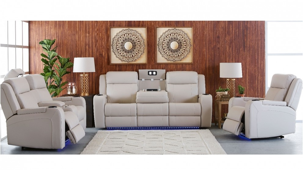 reclining leather sofas sofa fabric uk buy marina 3 seater powered recliner harvey norman au