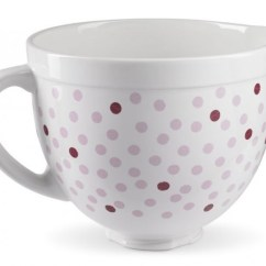 Kitchen Aid Bowls Home And Garden Designs Buy Kitchenaid Pink Polka Dot Ceramic Bowl For Stand Mixer Harvey