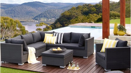 outdoor sofas brisbane how do you repair a ripped leather sofa lounges sun day beds egg chairs newport 7 piece modular lounge setting