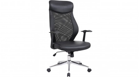 ergonomic chair harvey norman light grey accent with arms office chairs - in faux leather & pvc |
