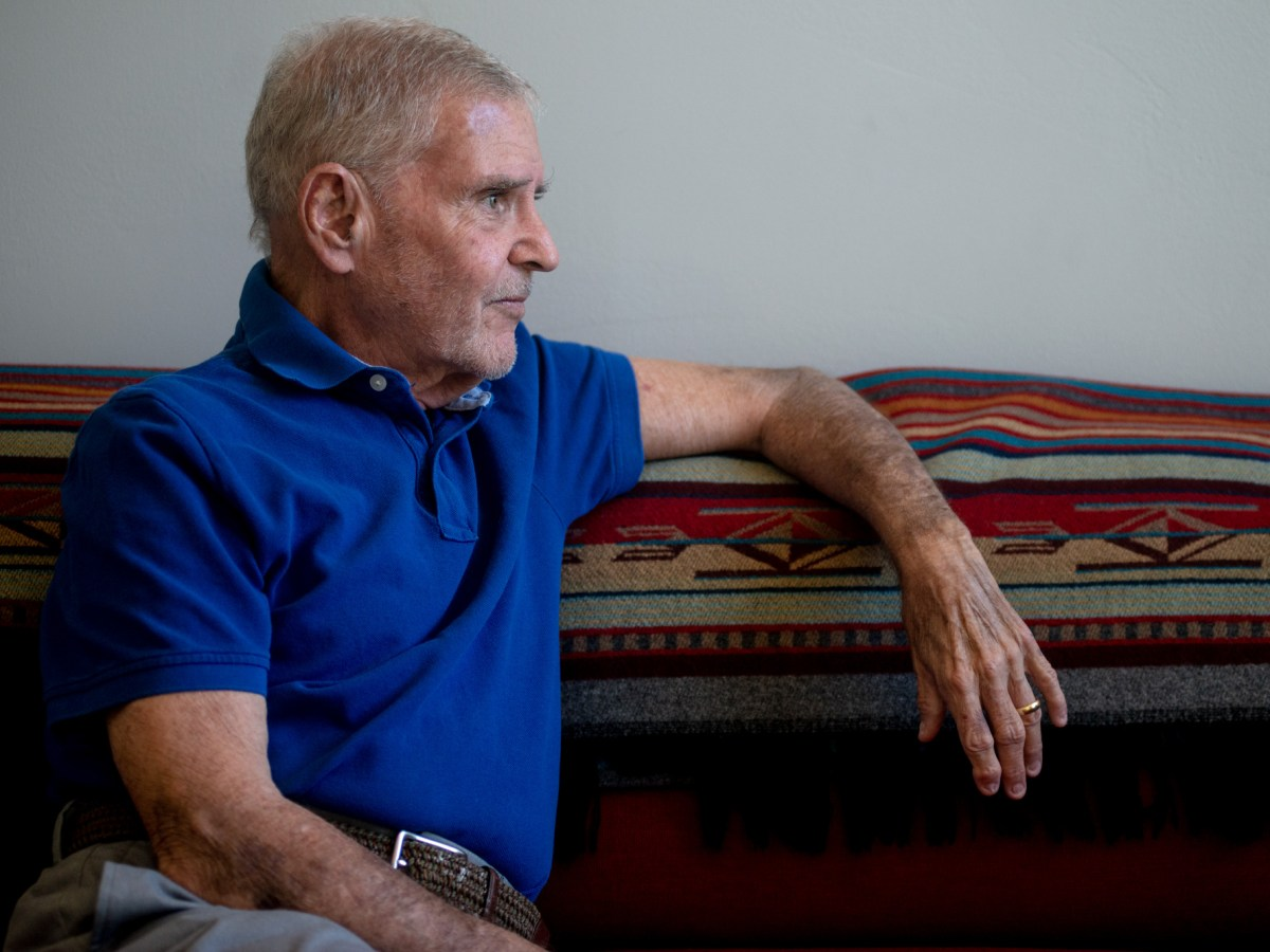 Chick Arnold, lead plaintiff in the Arnold v. Sarn class action lawsuit that claimed Maricopa County and the state of Arizona were failing people with serious mental illness, is shown at his Phoenix home on April 12, 2021. Photo by Brandon Quester   AZCIR