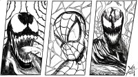 Spiderman Vs Carnage Coloring Pages