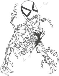 Carnage From Spiderman - Free Coloring Pages