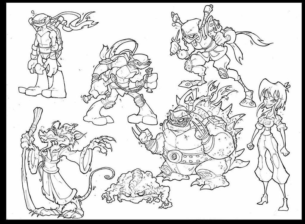 Friendly Ninja Turtles Coloring Pages Coloring Pages
