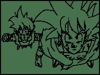 Dragon Ball Z Para Colorear Goku Fase Dios Vs Bills Dragon Ball