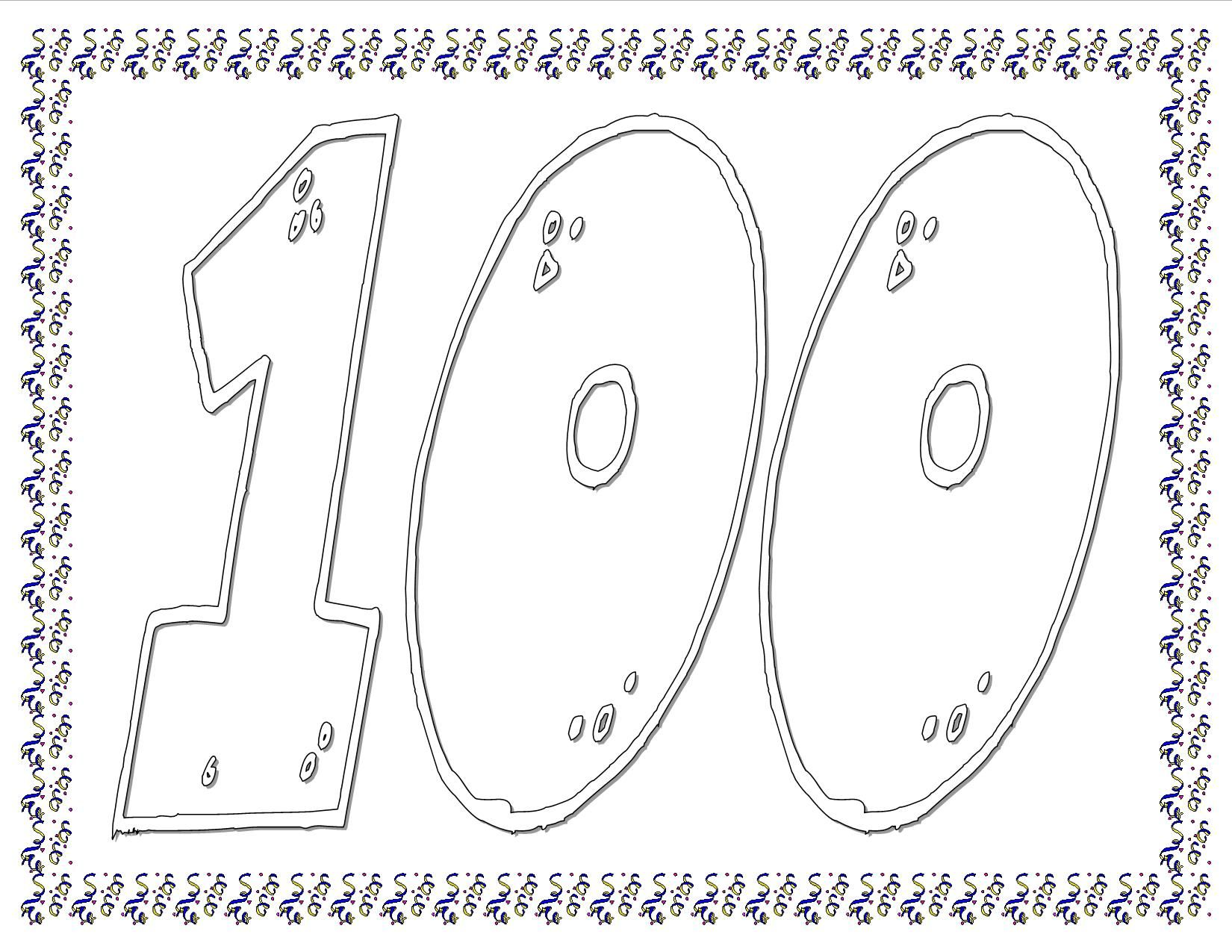 100th Day Worksheet Dot Marker