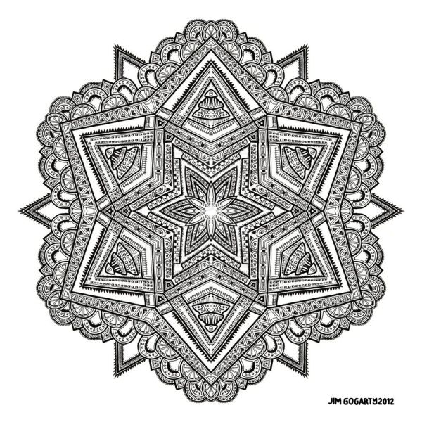 Difficult Mandala Coloring Pages - Home