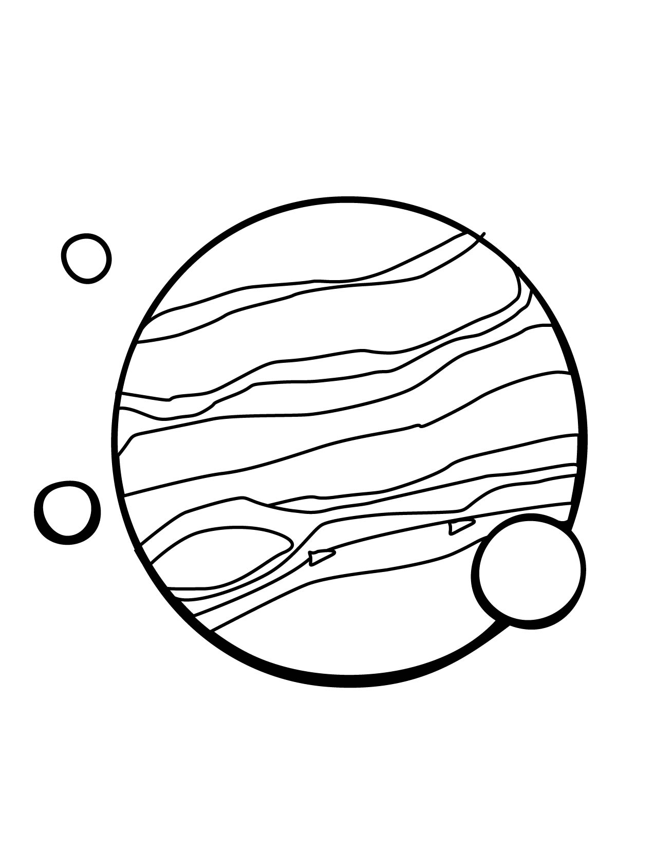 Jupiter Planet Line Drawings