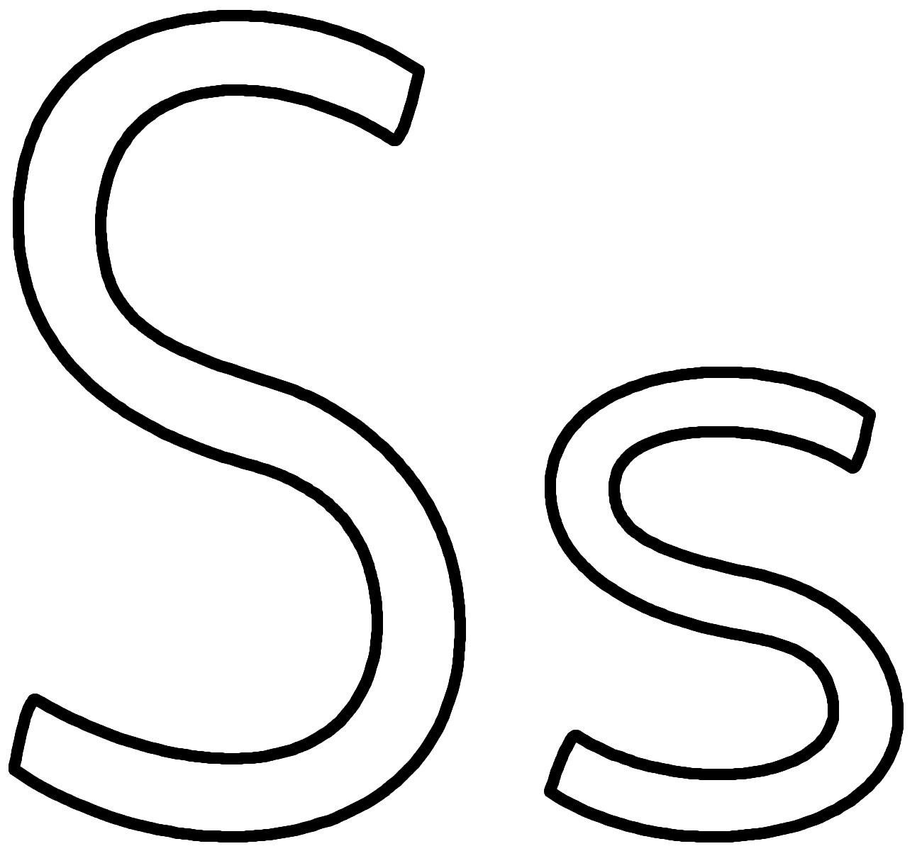 Coloring Pages Letter S