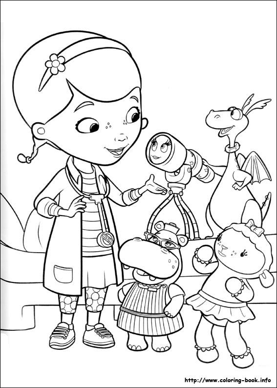Coloring Pages For Kids Doc Mcstuffins Color Page