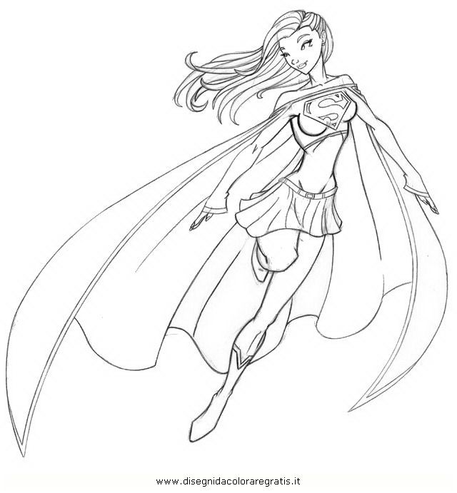 Sexy Supergirl Coloring Pages Sketch Coloring Page
