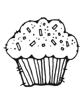 Muffin Coloring Pages