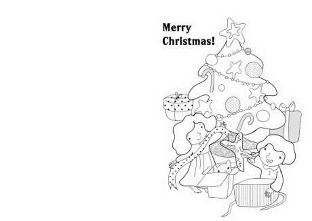Christmas Coloring Cards Printable