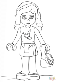 Printable Coloring Pages Lego Friends