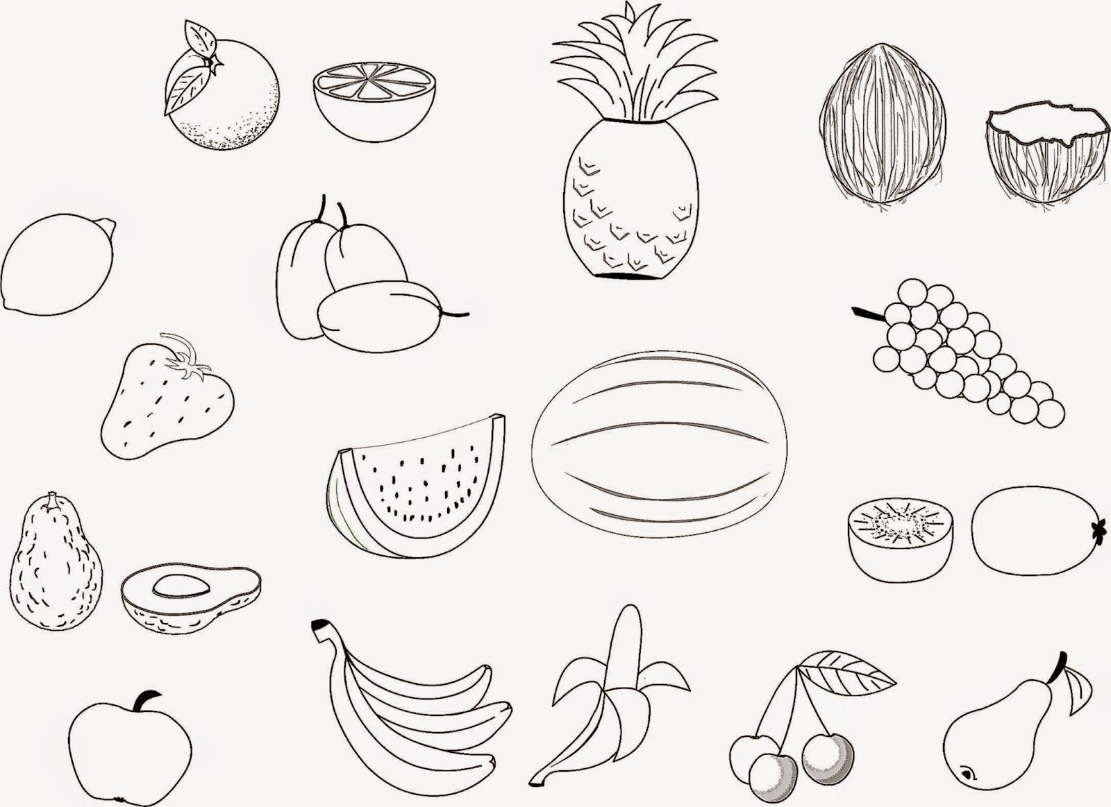 free printable fruit names fruits printable coloring pages