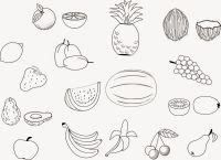 Fruit Coloring Pages 2 Coloring Ville   Coloring Pages for ...