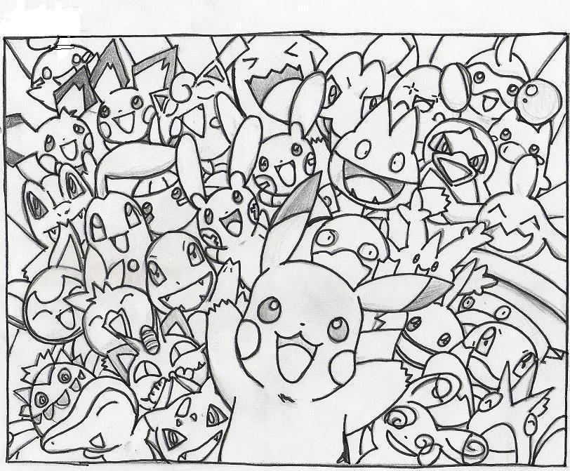 Coloring Pokemon Water Pages