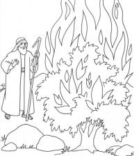 Moses And The Burning Bush Coloring Page - Coloring Home