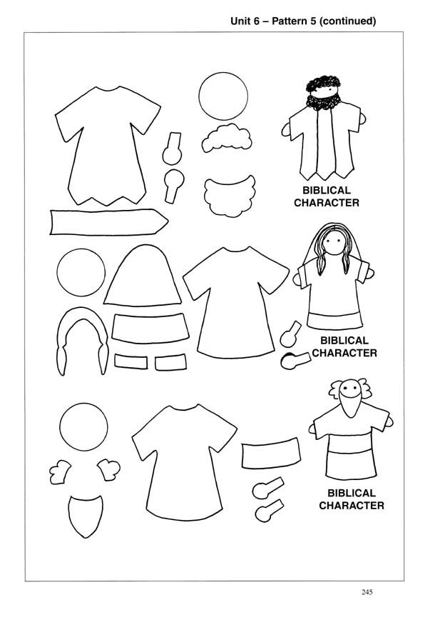 Female Puppet Bible Characters Coloring Coloring Pages