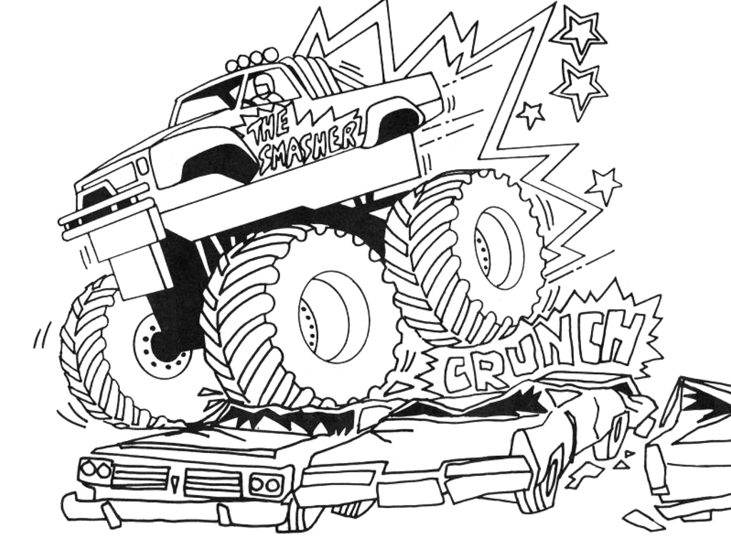 Monster Truck Coloring Pages Free Printables