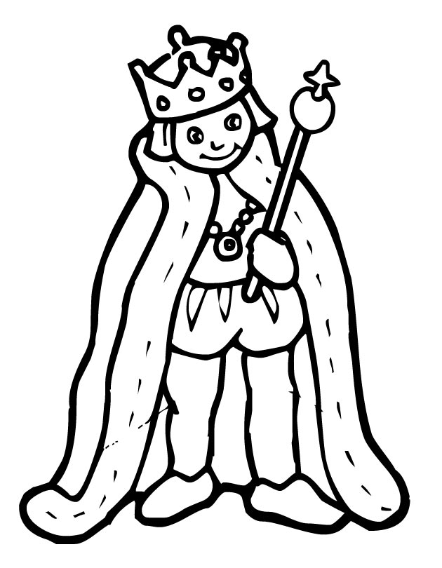 Printable King coloring page from FreshColoring.