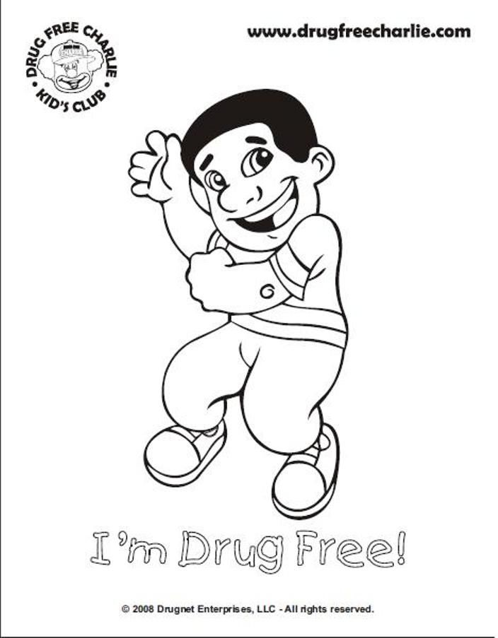 No Drugs Pages Coloring Pages