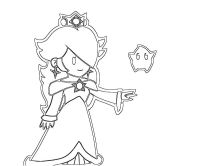 Rosalina Peach And Daisy Coloring Pages - Coloring Home | 166x200