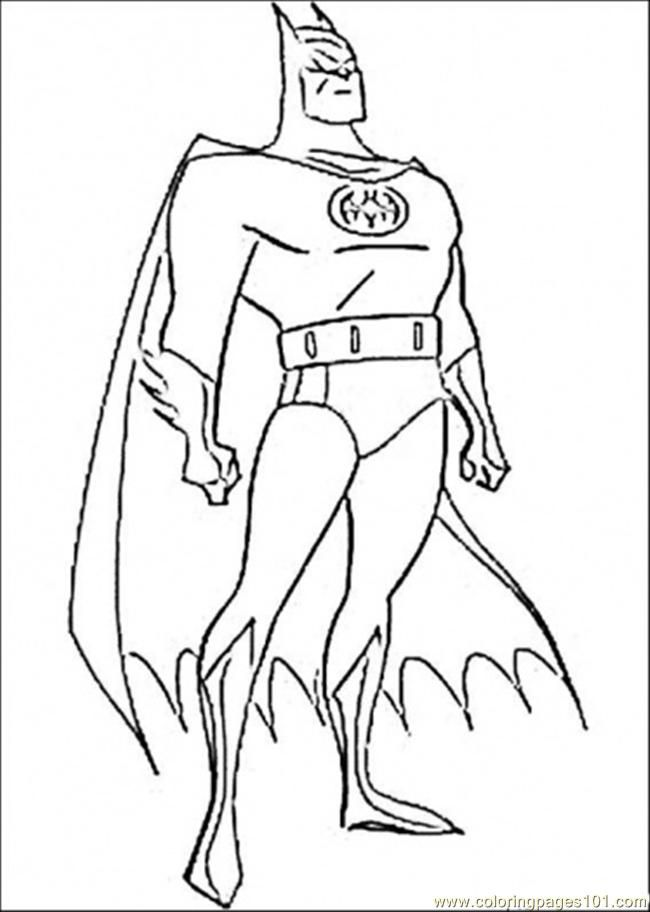 Batman Cartoon Coloring Pages Coloring Home