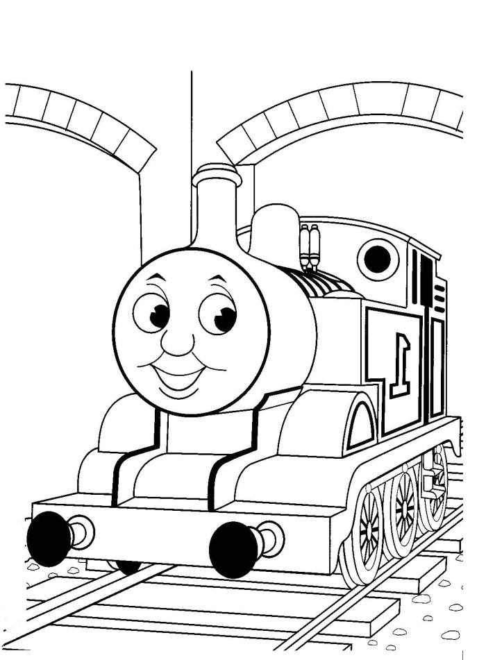 Free Thomas The Tank Engine Coloring Pages, Free, Free